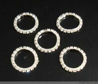 Lots 12Pcs 1Row Clear Crystal Rhinestone Toe Rings