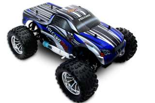 Monster Truck Volcano S30 1/10 Scale Nitro   Blue