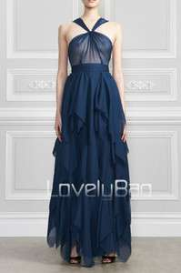 Transparent Top Layered Long Party Ball Prom Gown Night Dress