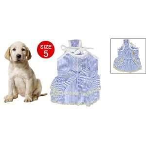 Size 5 Stripe Pattern Spaghetti Strap Dress for Pet Dog