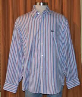 LONG SLEEVE BLUE RED PINK WHITE COTTON SHIRT MENS XXL 2XL