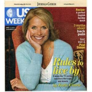 USA Weekend April 1 2011 Katie Couric on Cover (Rules to