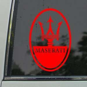 Maserati Red Decal Coupe Car Truck Bumper Window Red