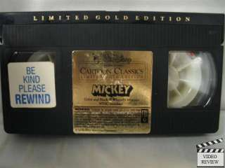 Mickey   Cartoon Classics Limited Gold Edition VHS
