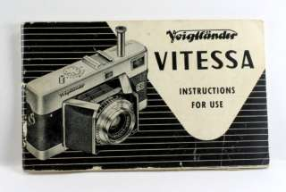 Voigtlaender Vitessa Instruction Book, 40 pages