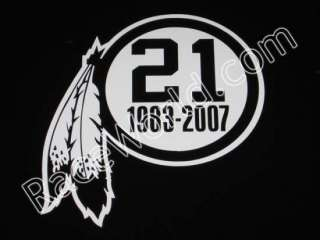 Sean Taylor #21 Washington Redskins Vinyl Sticker Decal