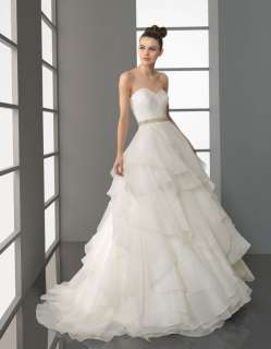 Line Sweetheart Pleated wedding dress Wedding Gown Bridal Gown