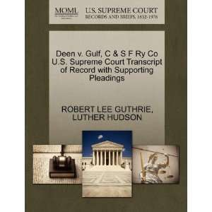 Pleadings (9781270443032) ROBERT LEE GUTHRIE, LUTHER HUDSON Books
