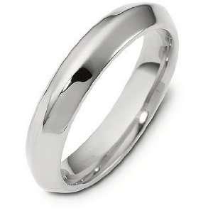 Platinum 4mm Designer Comfort Fit Wedding Band Ring   9.25