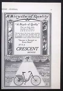 CRESCENT Bicycle magazine Ad Bike Biking Riding Sport Outdoors s2242