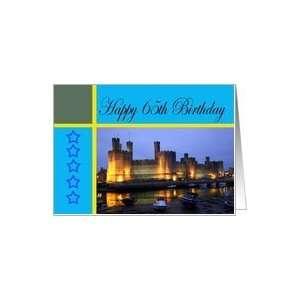 Happy 65th Birthday Caernarfon Castle Card: Toys & Games
