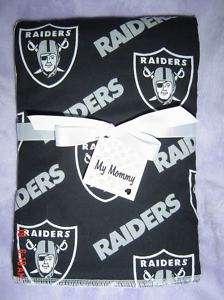 OAKLAND RAIDERS FOOTBALL NFL BABY BOY GIRL BURP CLOTH