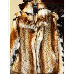 Gorgeous Terry Lewis Faux Lynx Fur Coat Jacket Extra Large