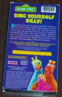 Sesame Street Sing Hoot And Howl Vhs We All Sing Together V...