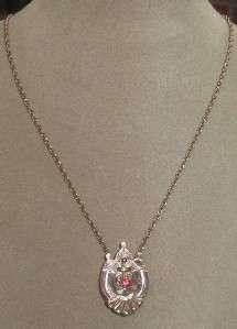 Vtg Antique Victorian Edwardian Ruby Slide Necklace GF