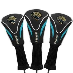 Jacksonville Jaguars Black Three Pack Golf Club Headcovers