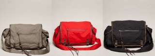 EAGLE BEACH CANVAS TOTE SCHOOL MESSENGER BAG NEW RED GRAY NAVY