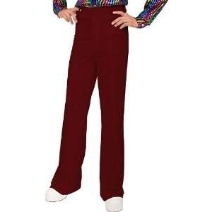 Red Bell Bottom Disco Pants: Clothing