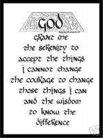 SERENITY PRAYER Calligraphy Print