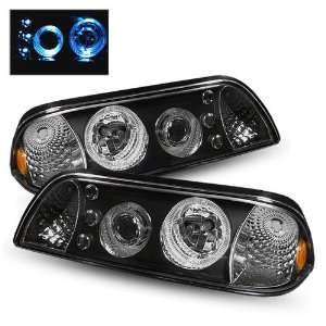 87 93 Ford Mustang Black LED Halo Projector Headlights 1PC Automotive
