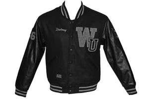Mens RockSmith X Wutang Cream Team Varsity Jacket Black