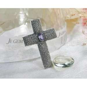 Designer Sterling Silver African Amethyst Cross Pendant Jewelry