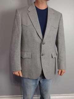vtg 70s LEVIS WESTERN BLAZER suit jacket coat   rockabilly cowboy 42R