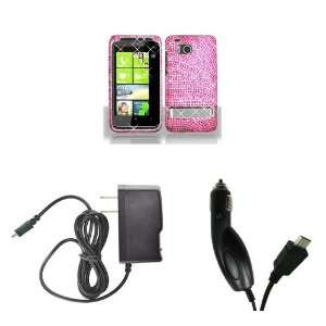 HTC ThunderBolt (Verizon) Premium Combo Pack   Hot Pink Zebra Diamond