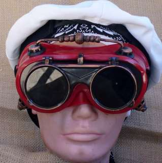 Goggles Glasses cyber lens goth Victorian RAVE Biker Motorcycle