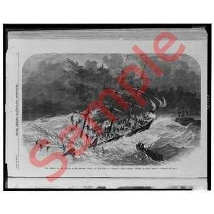 1870 Sinking USS Oneida Yokohama, Japan Frank Leslie: Home