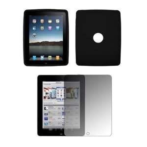 Apple iPad   Premium Jet Black Soft Silicone Gel Skin Cover