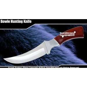 Full Tang Fixed Blade Knife Hunting Dagger Wood Handle