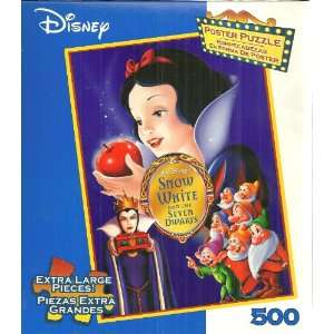 Disney Snow White and the Seven Dwarfs 500 Extra Large Pieces Jigsaw