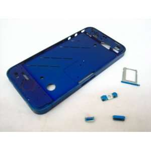 Apple iPhone 4 G 4G ~ Metal Blue Middle Cover Case Housing
