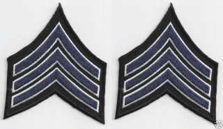 Police Military Army Sergeant Rank Insignia patches
