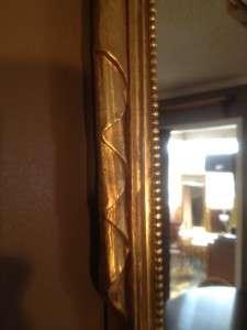 Large Vintage Gold Gilded Swag and Urn Carved Wood Decorator Mirror
