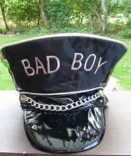 Mütze*Hut*Lack*BAD BOY*Schwarz*BAD GIRL*Rot*NEU*