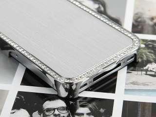 Luxury Diamond Bling Hard Chrome Case Cover for Apple iPhone 4S 4 4G