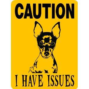 TOY FOX TERRIER DOG SIGN ALUMINUM Everything Else