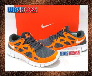 2011 Mens Nike Free Run 2 Dark Grey White Orange US 8~12 Air Max 1 90