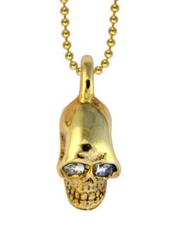 King QUEEN Baby studio CZ MB Cross 18k vermeil SKULL