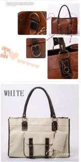 Women Faux Leather Handbag Shoulders Bag Tote Larger