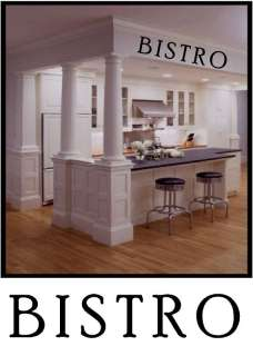 BISTRO Vinyl Wall Art Decor Words Decals Stickers
