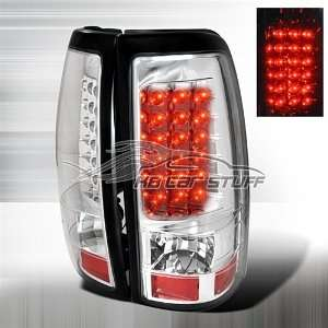 03 06 CHEVY SILVERADO 1500 LED TAIL LIGHTS CHROME CLEAR