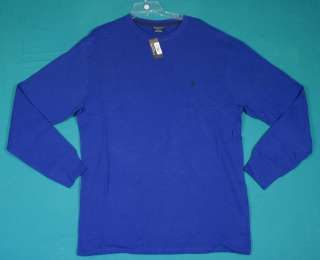 NWT Polo Ralph Lauren Size 2XL Blue Cotton Long Sleeve Shirt