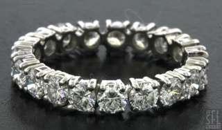 1950s PLATINUM 3.0CT VS1/H DIAMOND ETERNITY WEDDING BAND RING SIZE 6.5