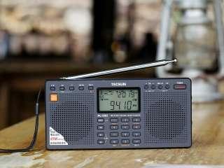 Tecsun PL390 PL 390 DSP Radio FM Weltempfänger silver