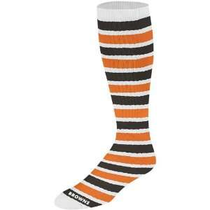 Brown Orange Striped Knee High Socks