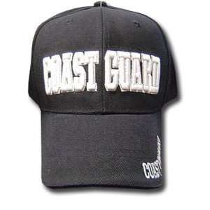 BLACK COAST GUARD LAW ENFORCEMENT BASEBALL CAP HAT BLK