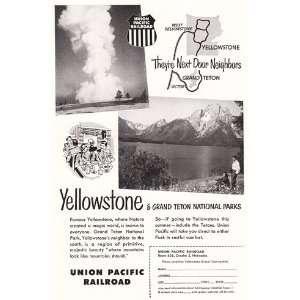 Union Pacific Railroad Yellowstone, Grand Teton Union Pacific